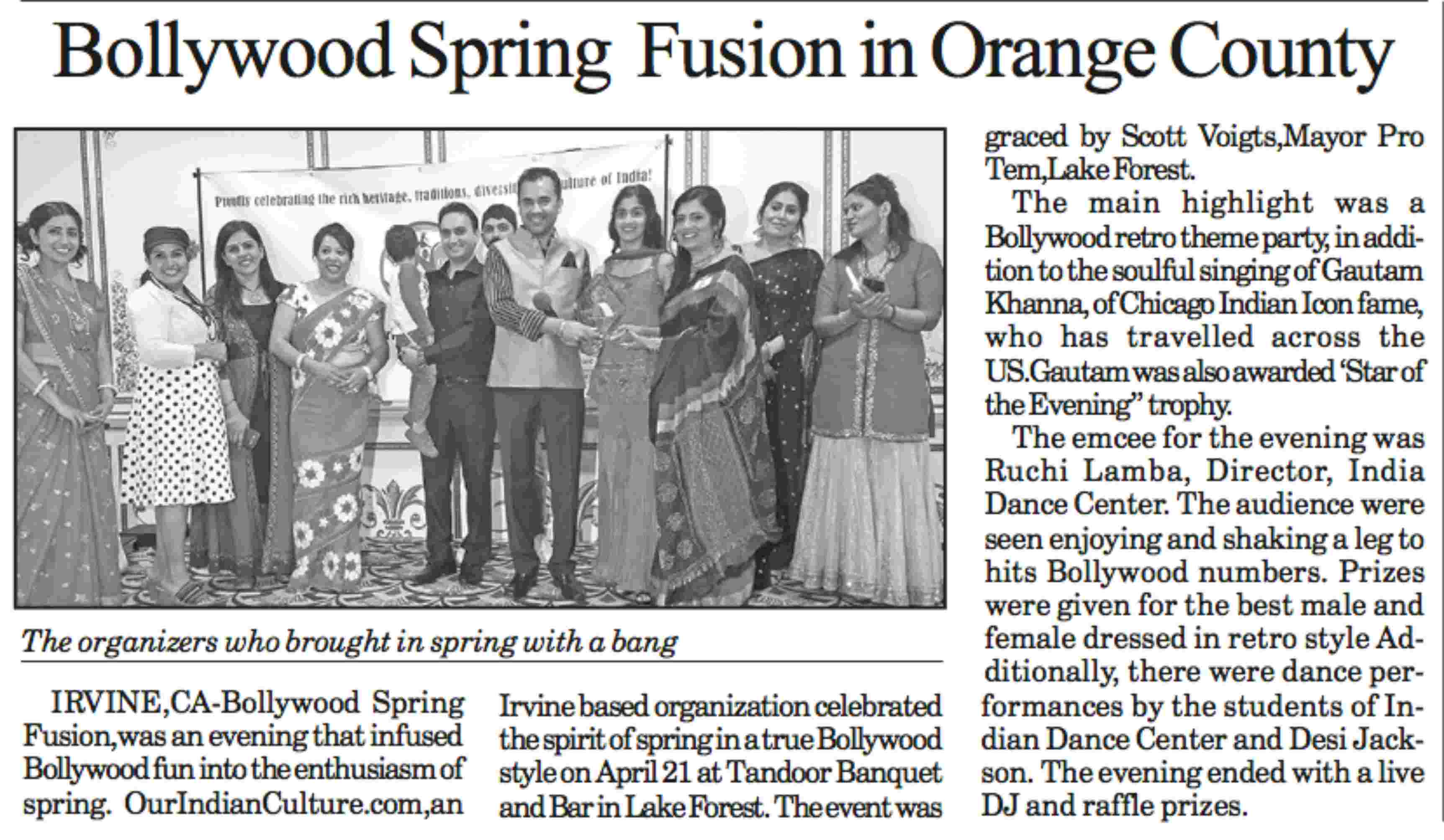 IndiaJournal_Media_Coverage_of_events_organized_by_OurIndianCulture_com
