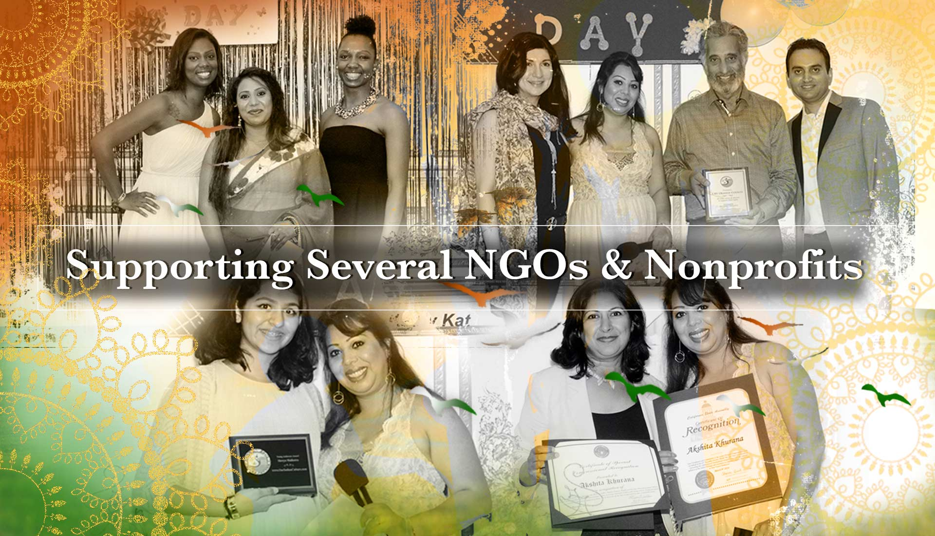 Our Indian Culture is Supporting Several NGOs And Nonprofits here in Irvine, Los Angeles, San Diego