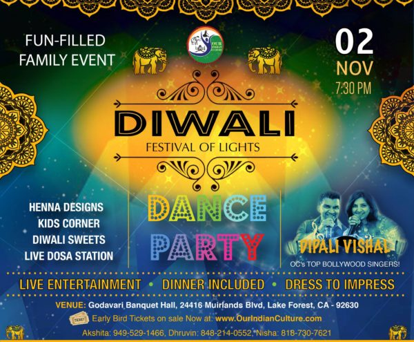 Diwali Bollywood Party - Festival of Lights