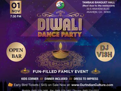 Diwali Dance Party Anaheim November 01 2019