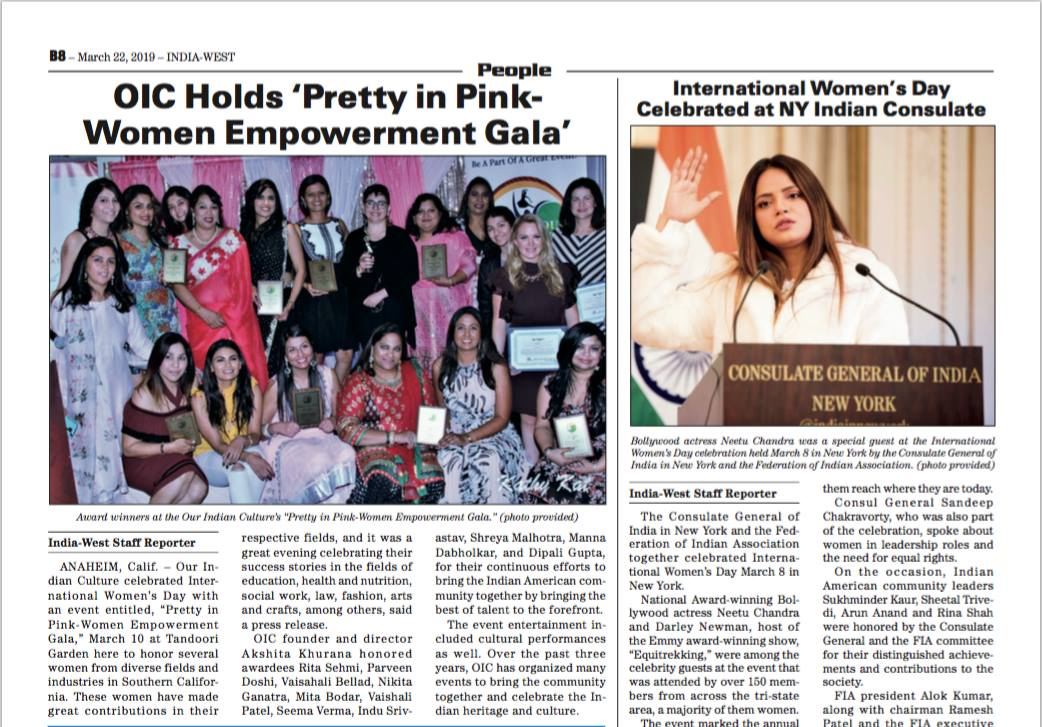 Pretty In Pink coverage my India Journal Newspaper