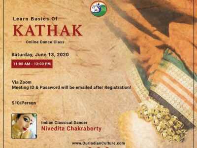 Basics of Kathak Workshop June 13 2020
