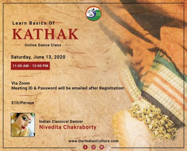 Basics of Kathak Workshop June 13 2020