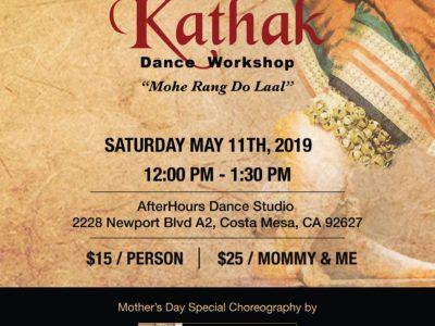 Kathak Dance Workshop Costa Mesa