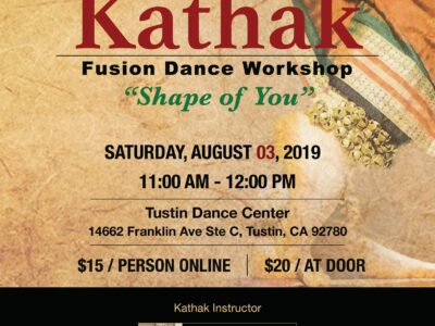 Kathak Fusion Dance Workshop August 03 2019