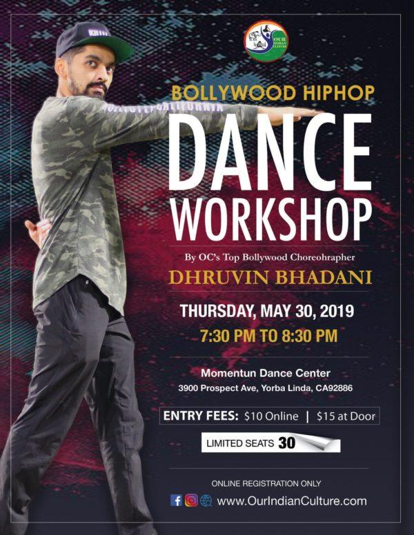 Bollywood Hip Hop Dance Workshop in Yorba Linda