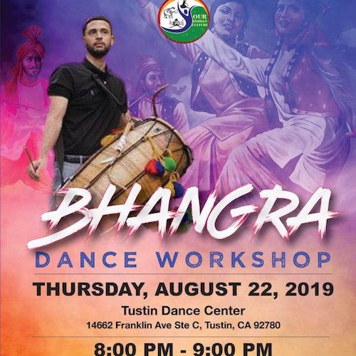 Bhangra Dance Workshop August 22 Tustin CA USA