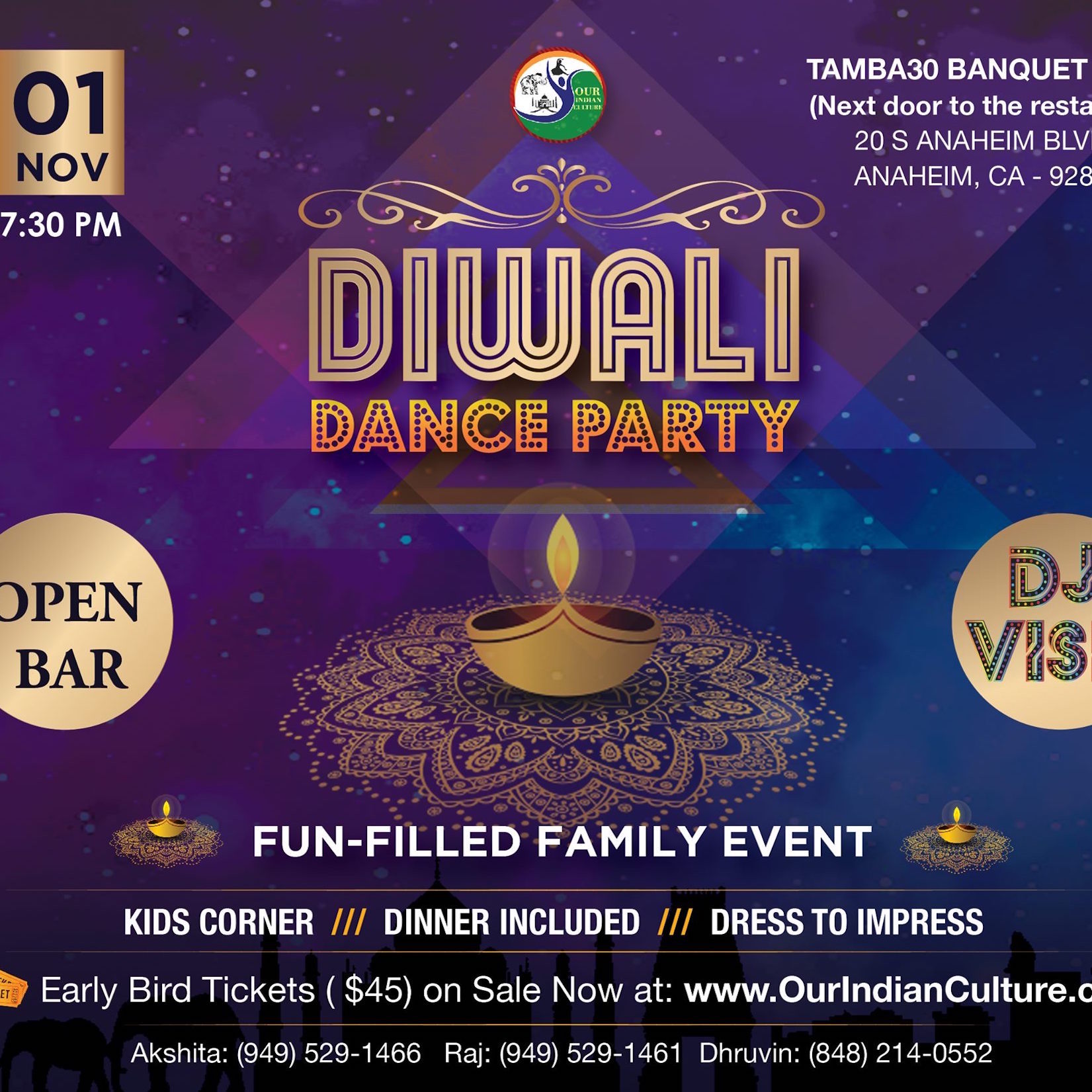 Diwali Dance Party Anaheim