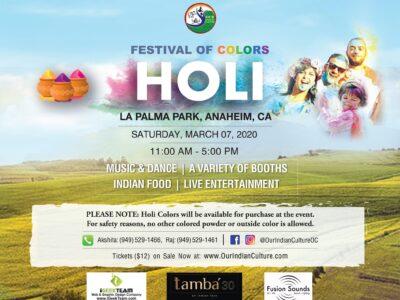 Holi Festival of colors La Palma Park Anaheim CA